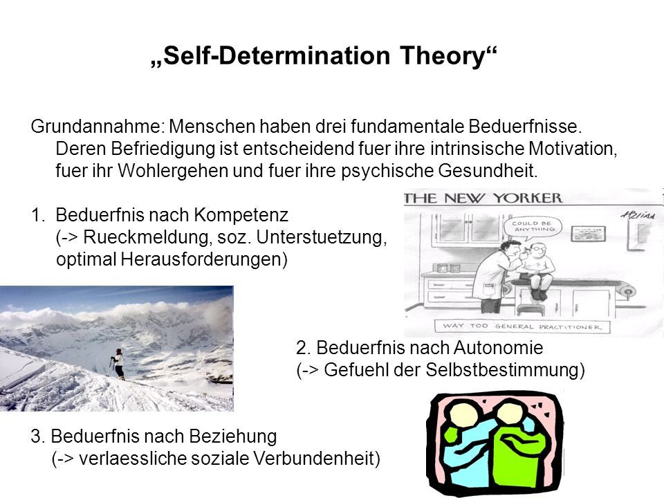 """Self-Determination Theory"