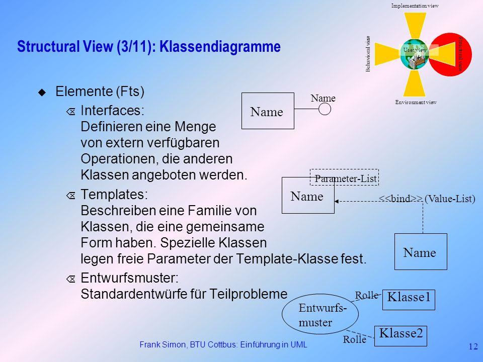 Structural View (3/11): Klassendiagramme