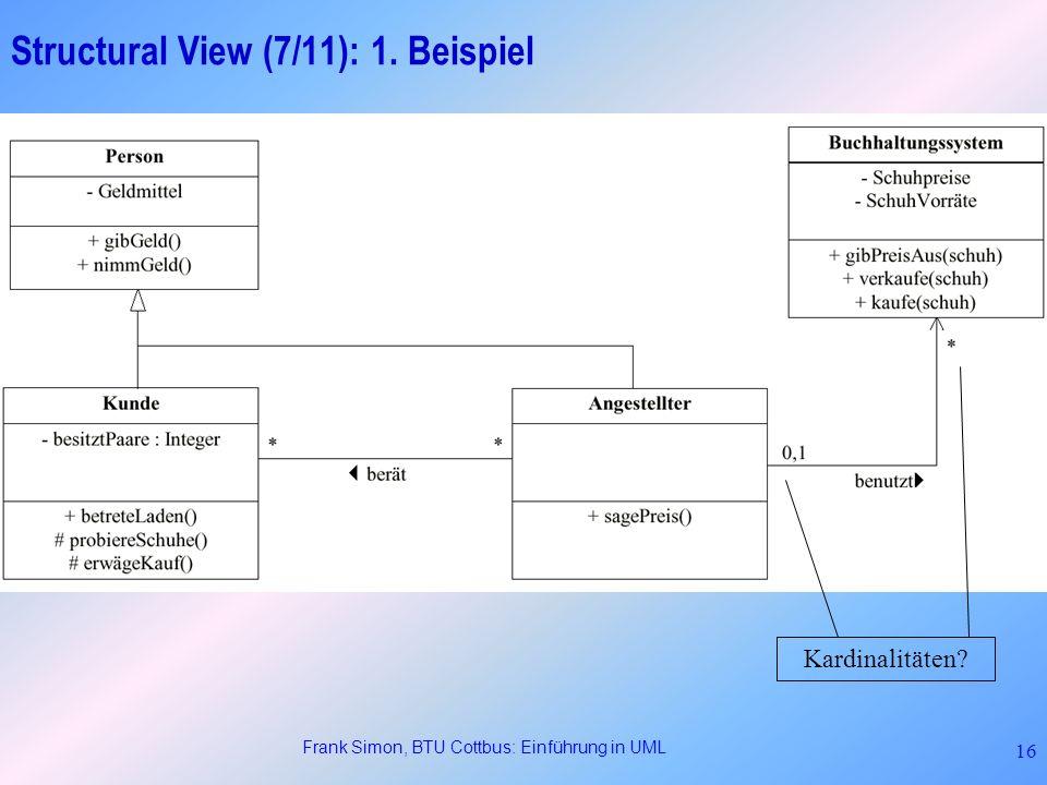 Structural View (7/11): 1. Beispiel