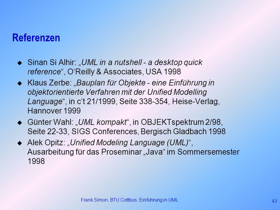 Frank Simon, BTU Cottbus: Einführung in UML