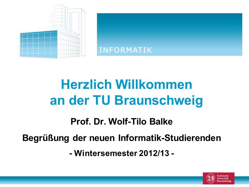 Herzlich Willkommen an der TU Braunschweig