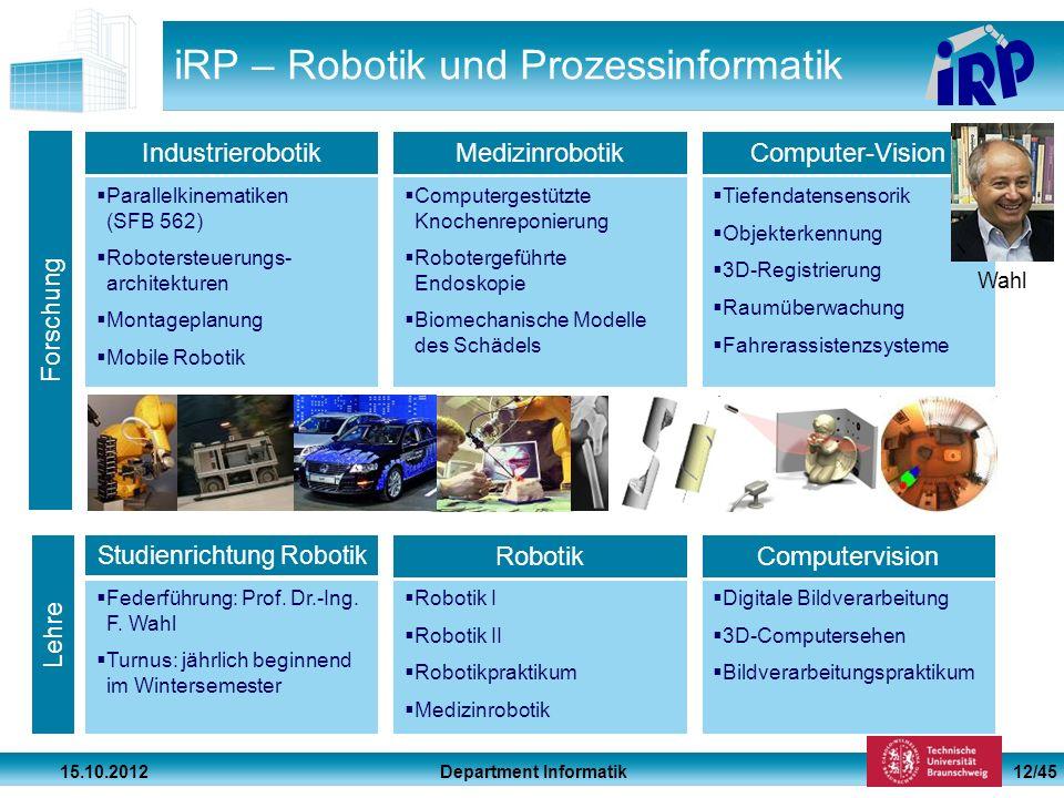 iRP – Robotik und Prozessinformatik