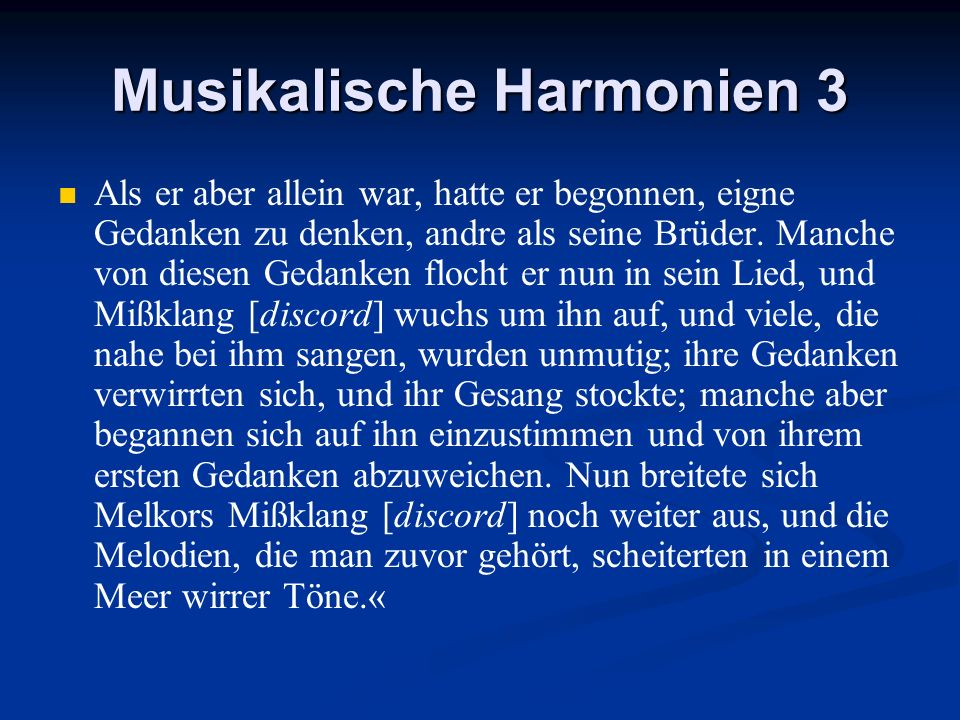 Musikalische Harmonien 3