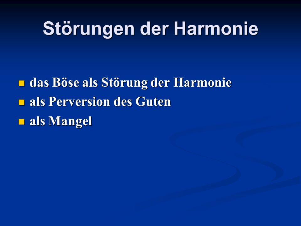 Störungen der Harmonie
