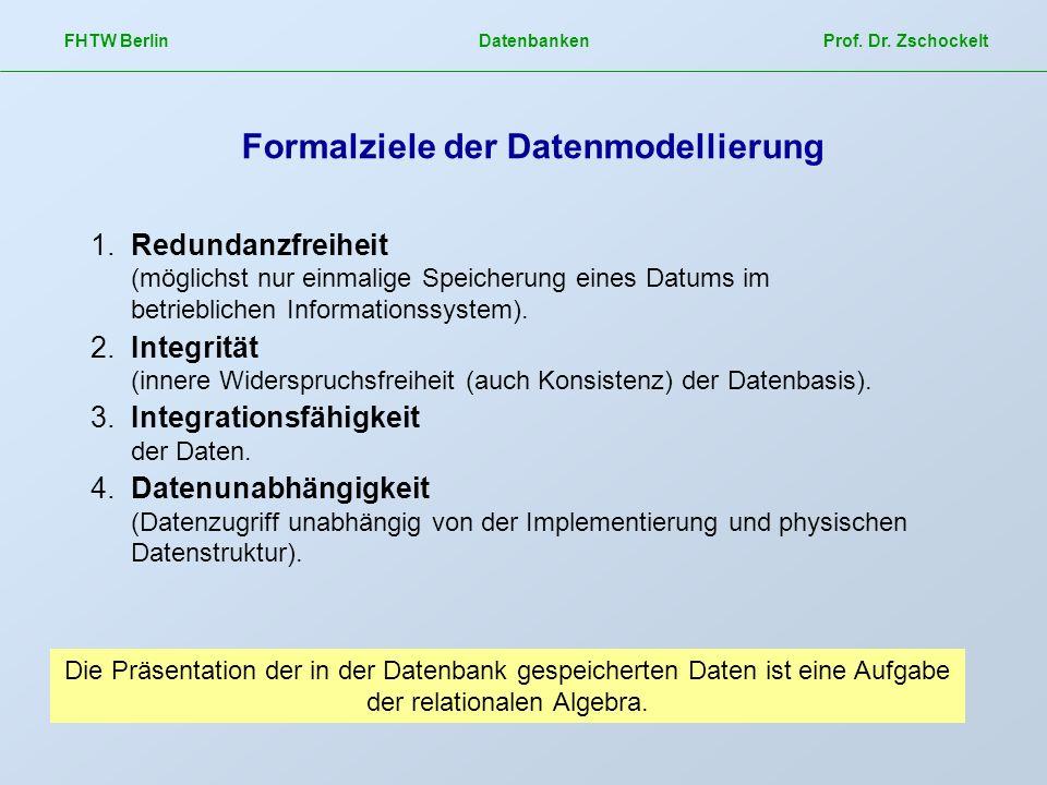 Formalziele der Datenmodellierung