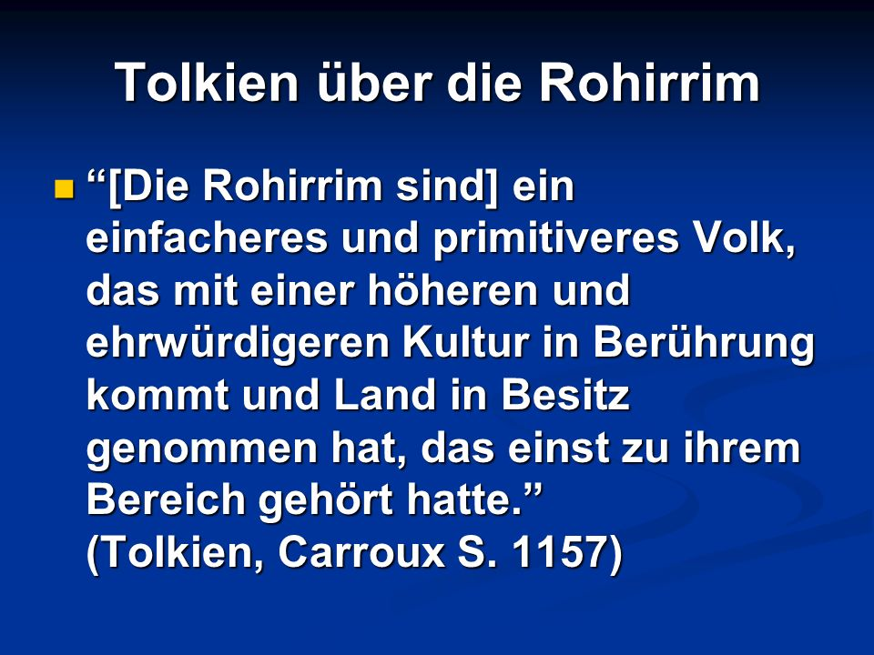 Tolkien über die Rohirrim