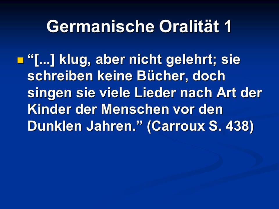 Germanische Oralität 1