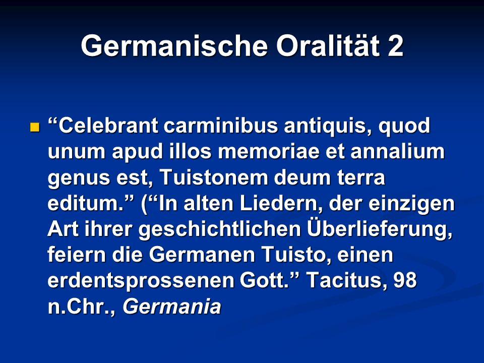 Germanische Oralität 2