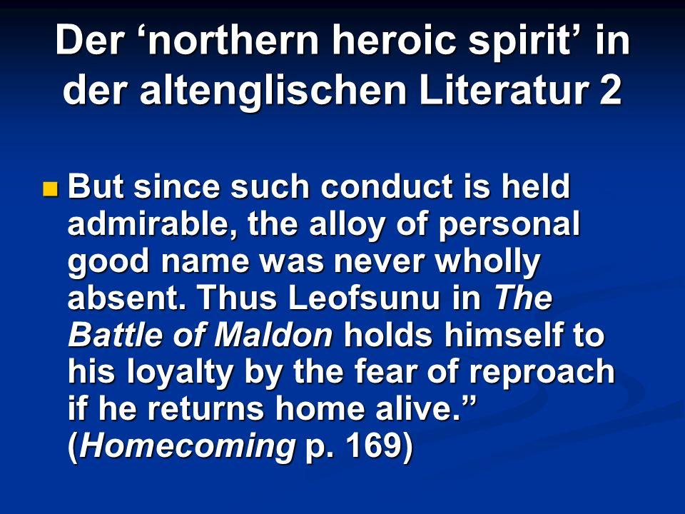 Der 'northern heroic spirit' in der altenglischen Literatur 2