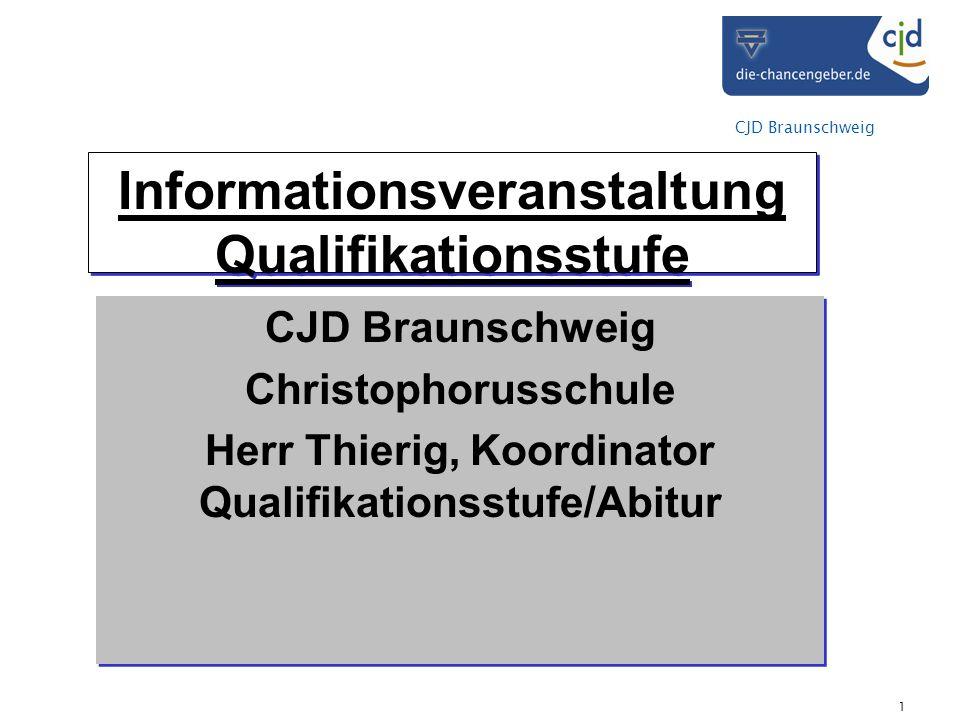 Informationsveranstaltung Qualifikationsstufe
