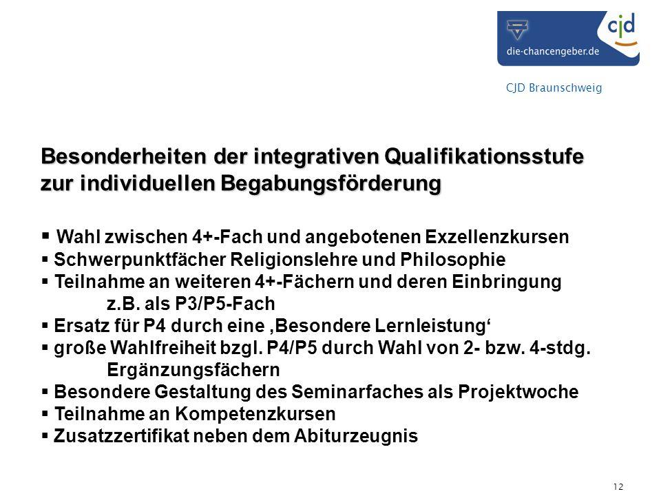 Besonderheiten der integrativen Qualifikationsstufe