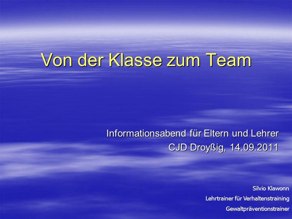 Informationsabend für Eltern und Lehrer CJD Droyßig, 14.09.2011