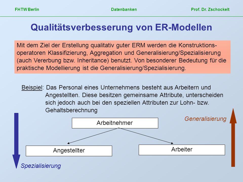 Qualitätsverbesserung von ER-Modellen