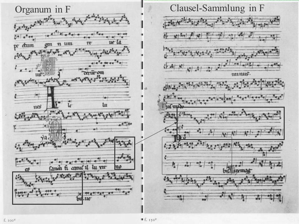 Organum in F Clausel-Sammlung in F