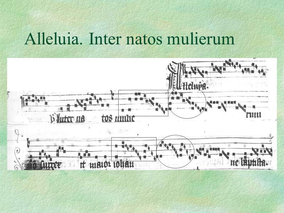 Alleluia. Inter natos mulierum
