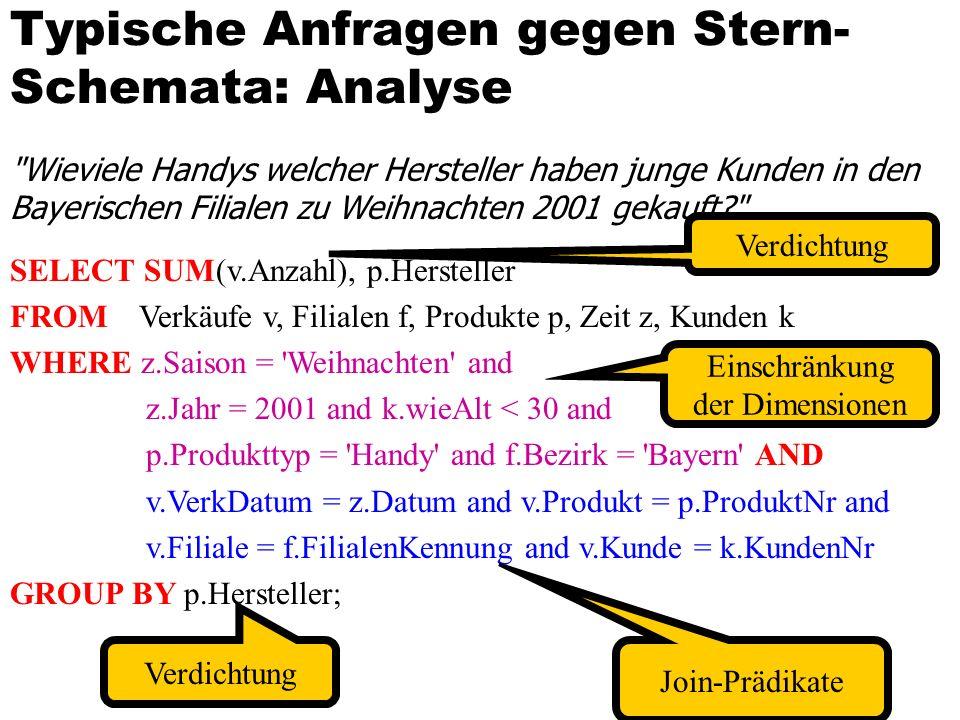 Typische Anfragen gegen Stern-Schemata: Analyse