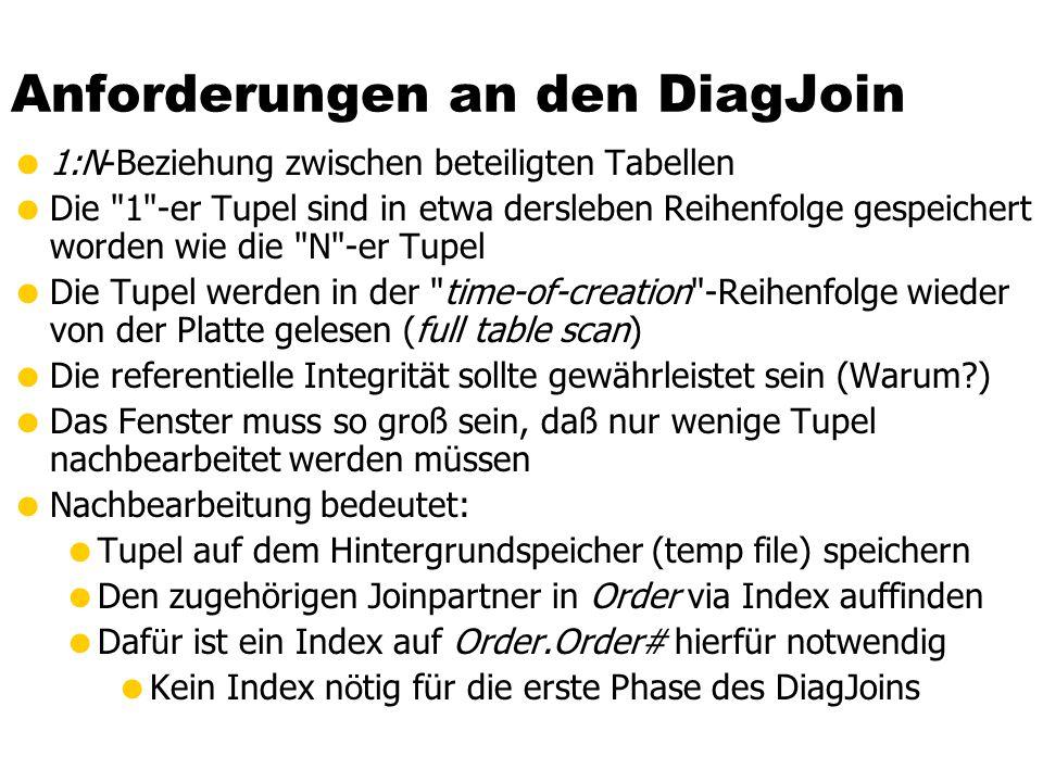 Anforderungen an den DiagJoin