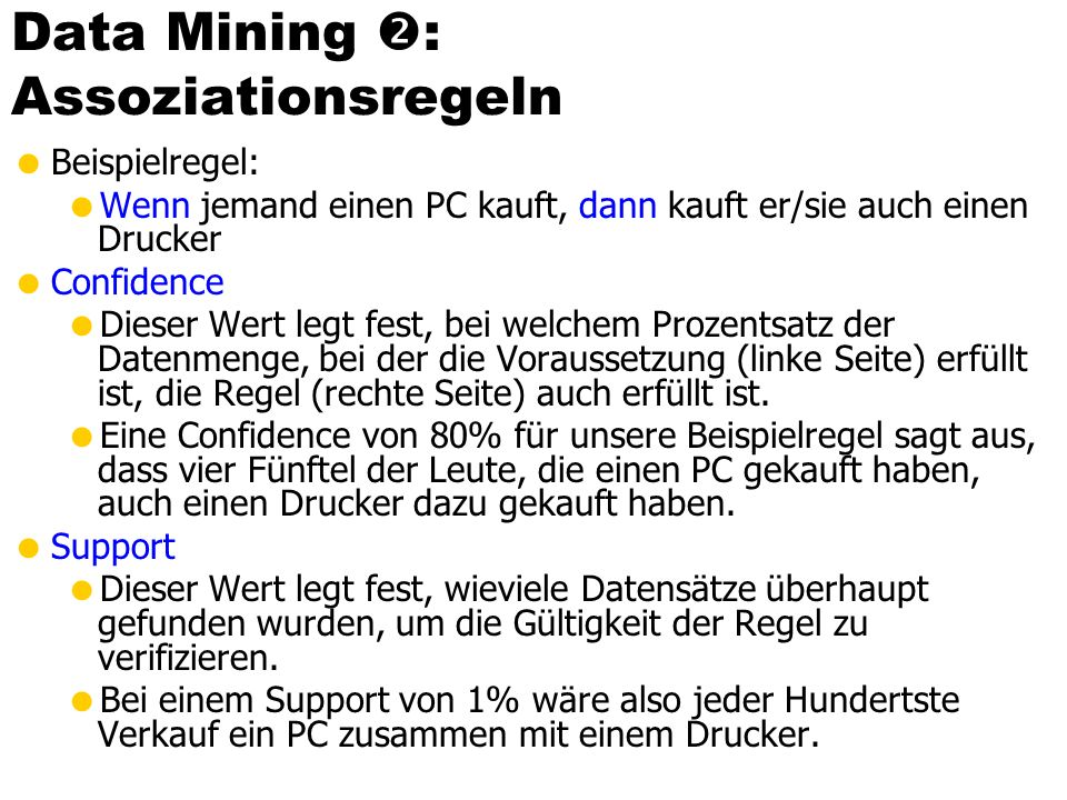 Data Mining : Assoziationsregeln
