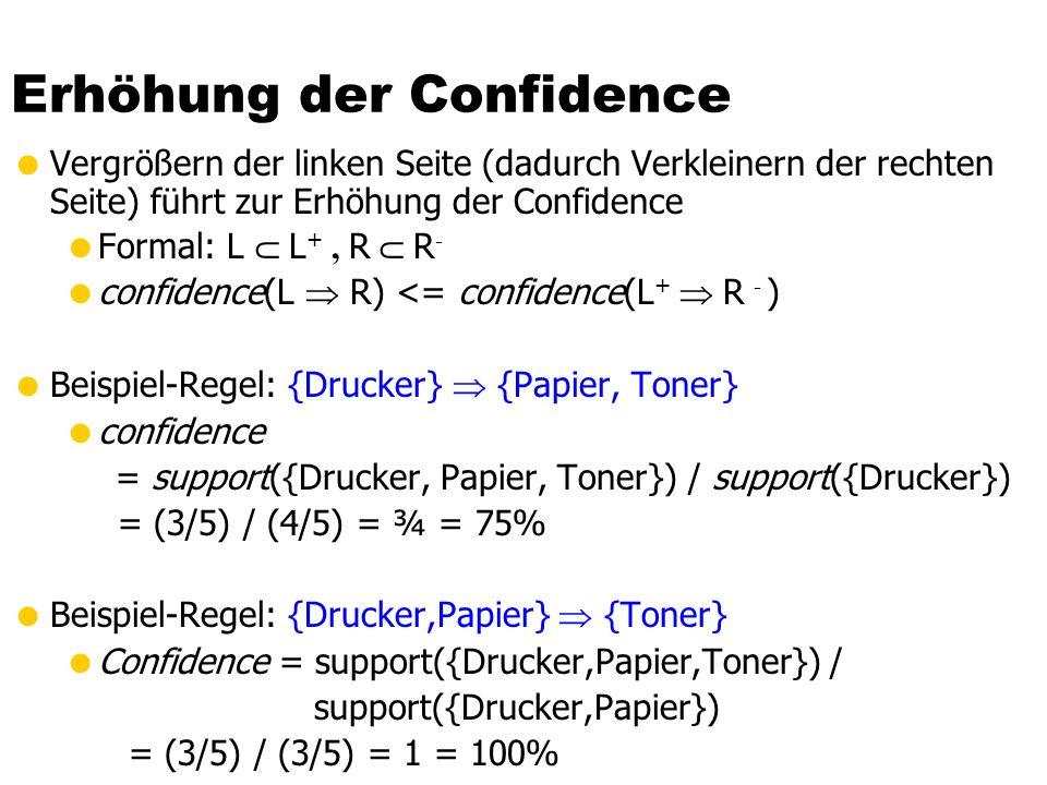 Erhöhung der Confidence