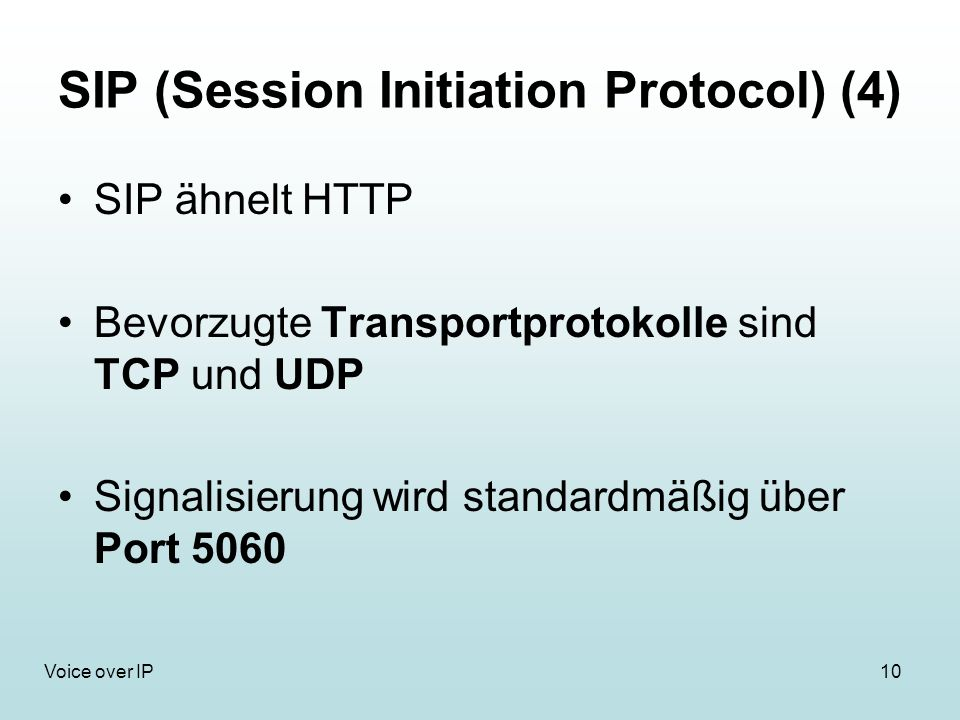 SIP (Session Initiation Protocol) (4)