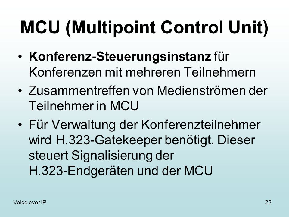 MCU (Multipoint Control Unit)