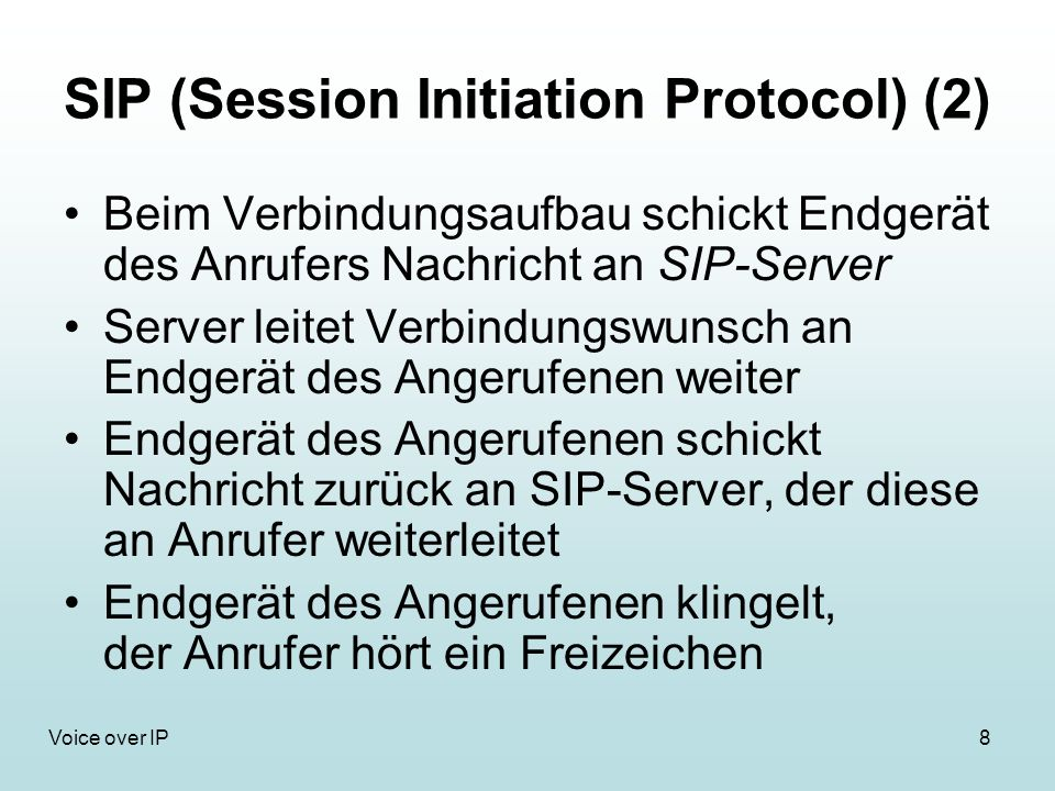 SIP (Session Initiation Protocol) (2)