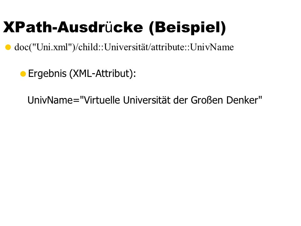 XPath-Ausdrücke (Beispiel)