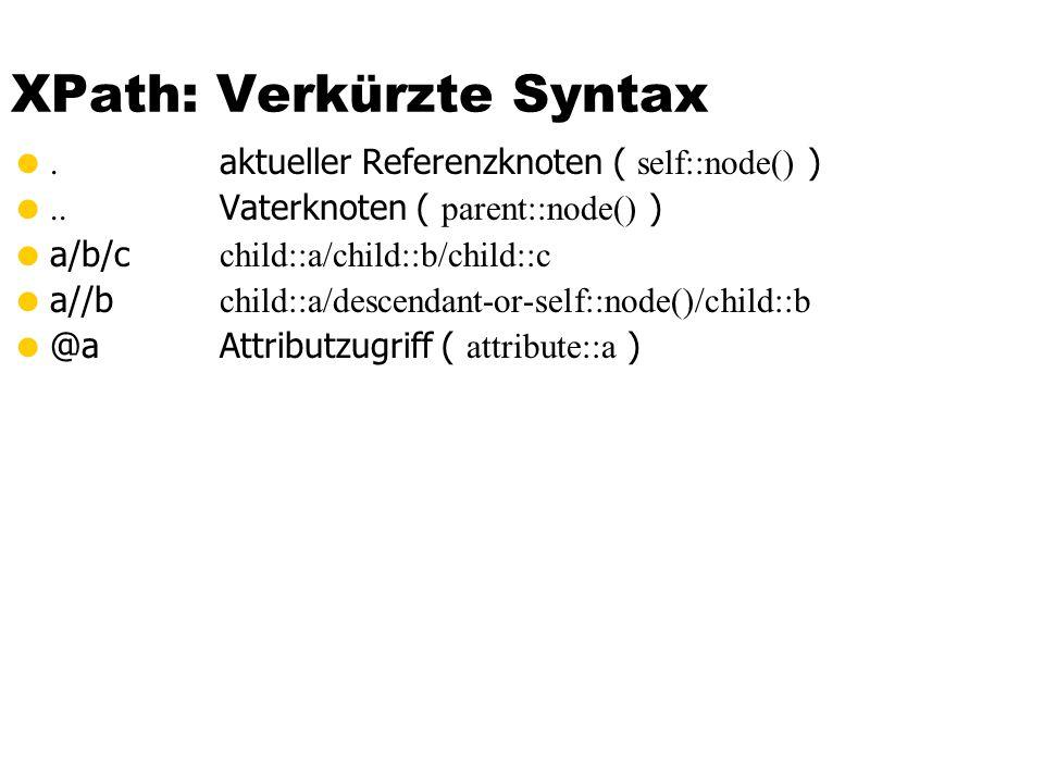 XPath: Verkürzte Syntax
