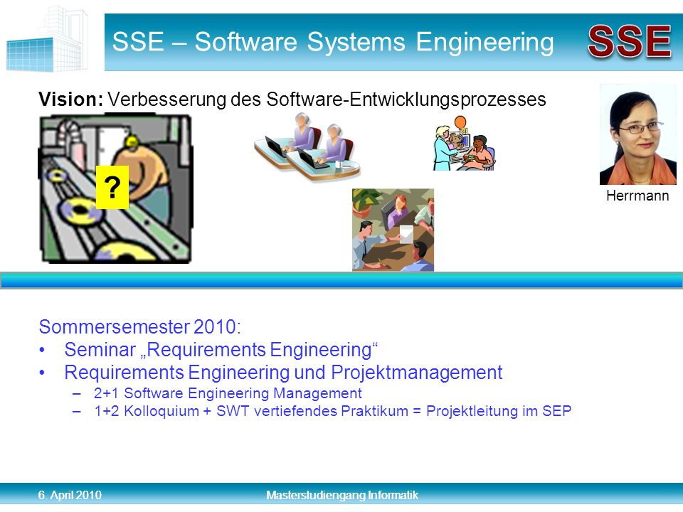 SSE – Software Systems Engineering