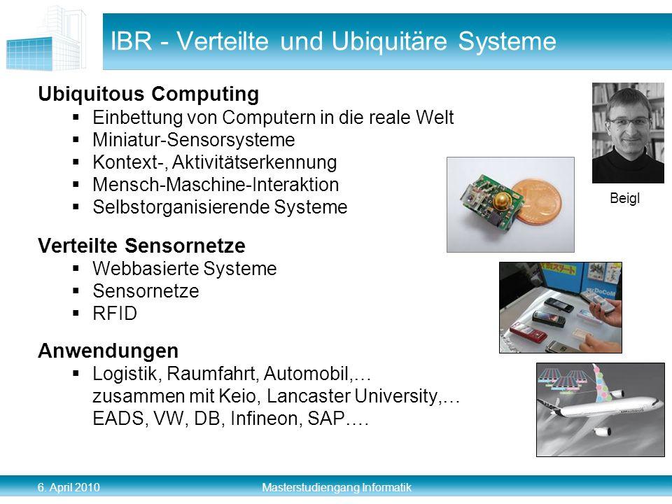 IBR - Verteilte und Ubiquitäre Systeme
