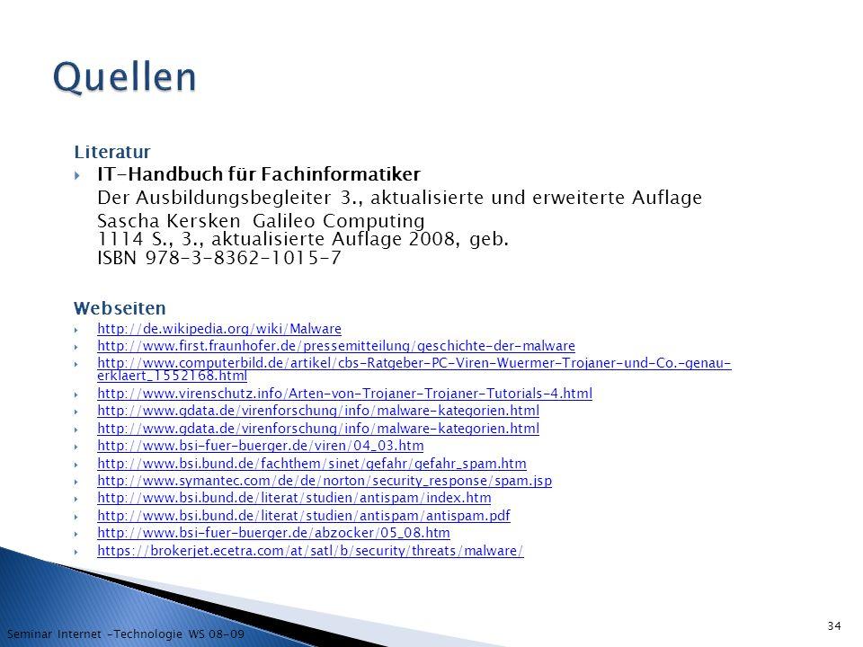 Quellen IT-Handbuch für Fachinformatiker