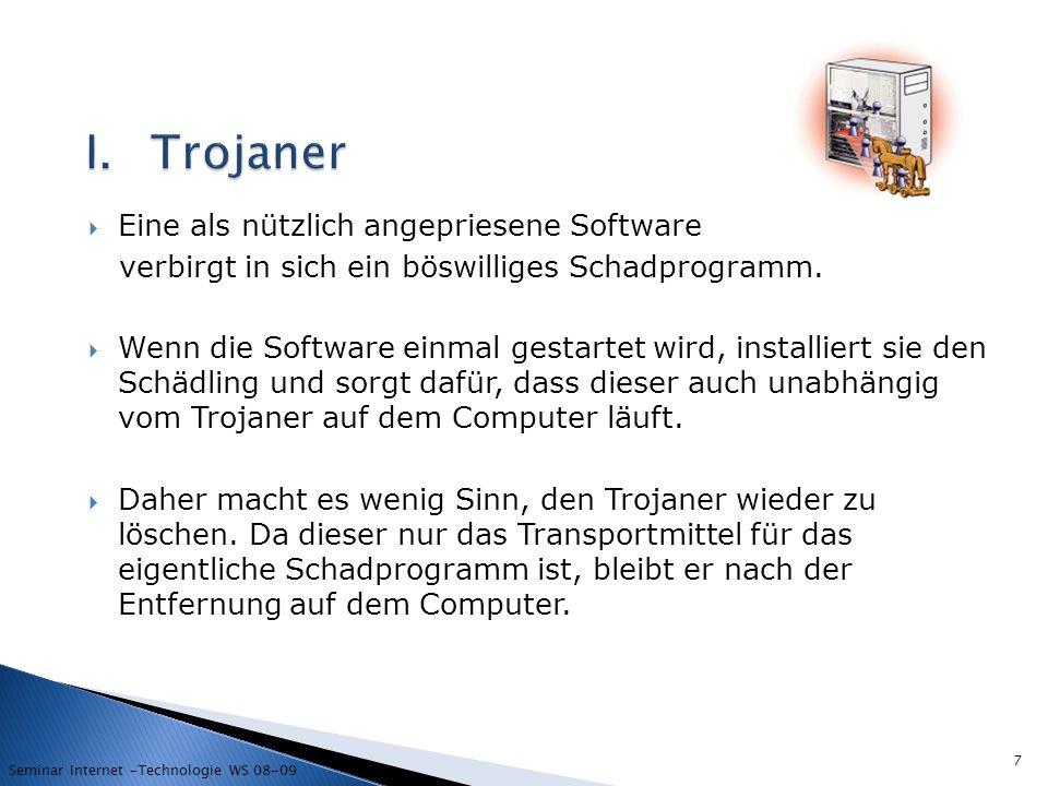 Trojaner Eine als nützlich angepriesene Software