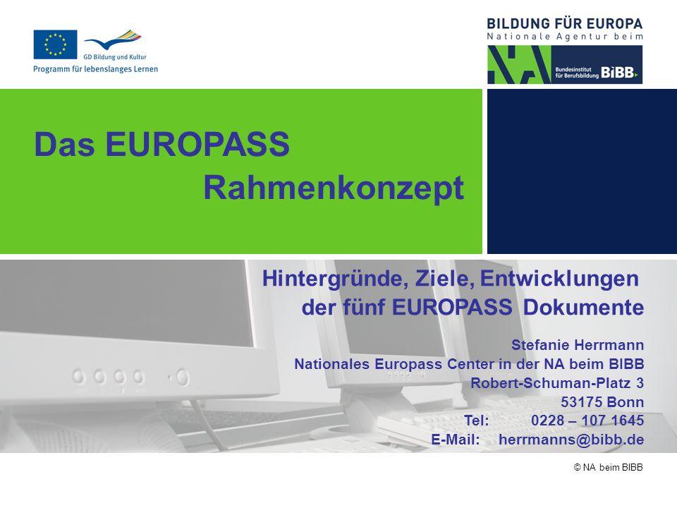 Das EUROPASS Rahmenkonzept Hintergründe, Ziele, Entwicklungen