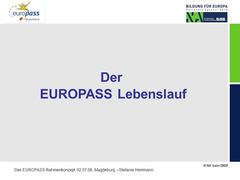Der EUROPASS Lebenslauf
