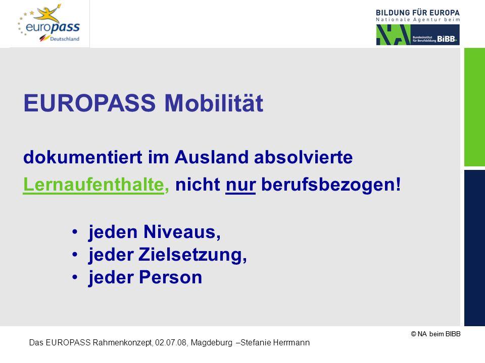 EUROPASS Mobilität dokumentiert im Ausland absolvierte