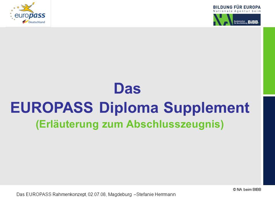 EUROPASS Diploma Supplement (Erläuterung zum Abschlusszeugnis)