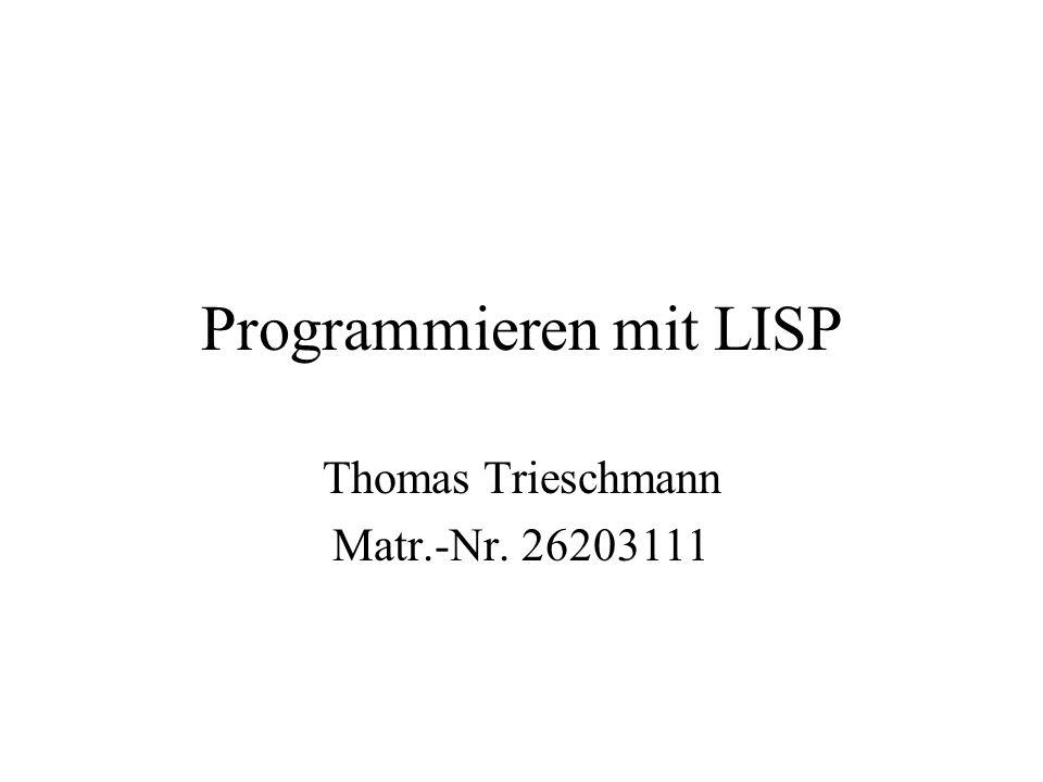 Programmieren mit LISP