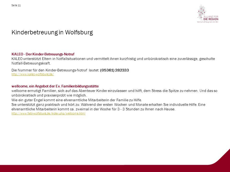 Kinderbetreuung in Wolfsburg