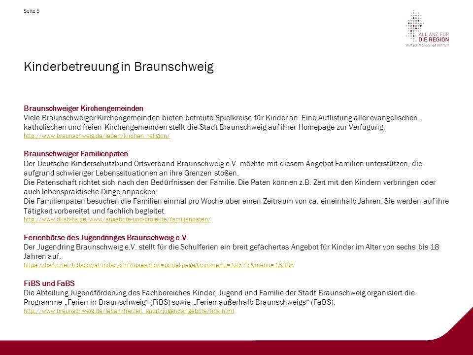 Kinderbetreuung in Braunschweig