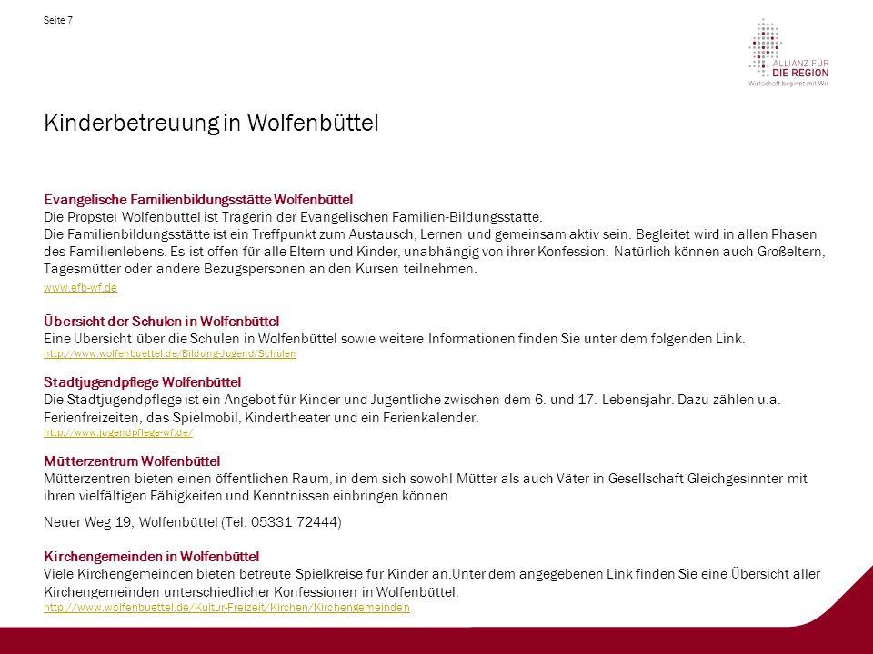 Kinderbetreuung in Wolfenbüttel