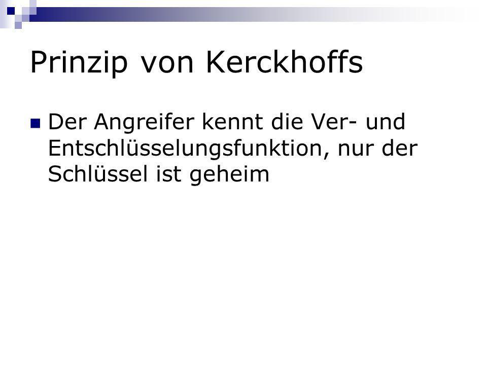 Prinzip von Kerckhoffs
