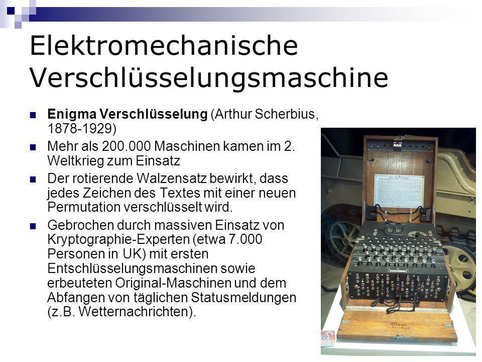 Elektromechanische Verschlüsselungsmaschine