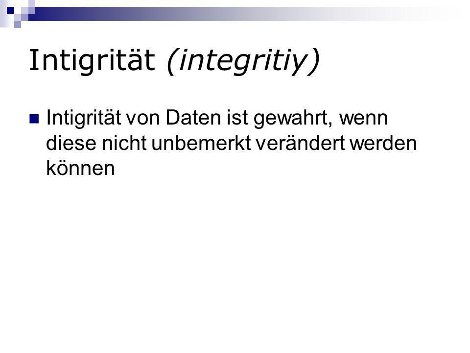 Intigrität (integritiy)