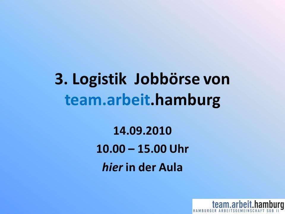 3. Logistik Jobbörse von team.arbeit.hamburg