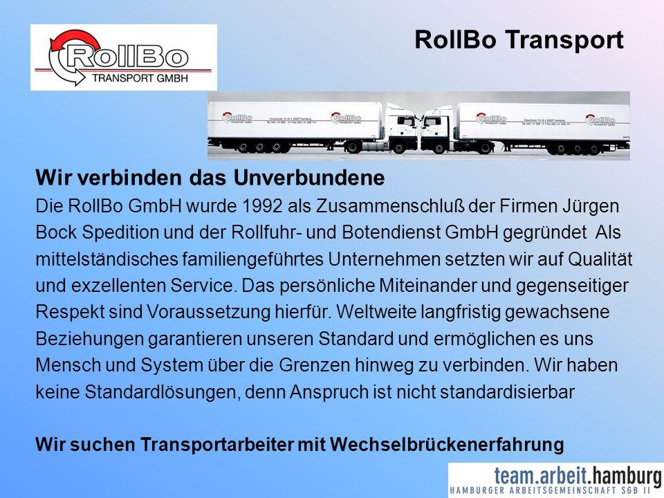 RollBo Transport Wir verbinden das Unverbundene