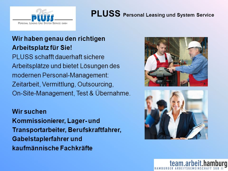 PLUSS Personal Leasing und System Service