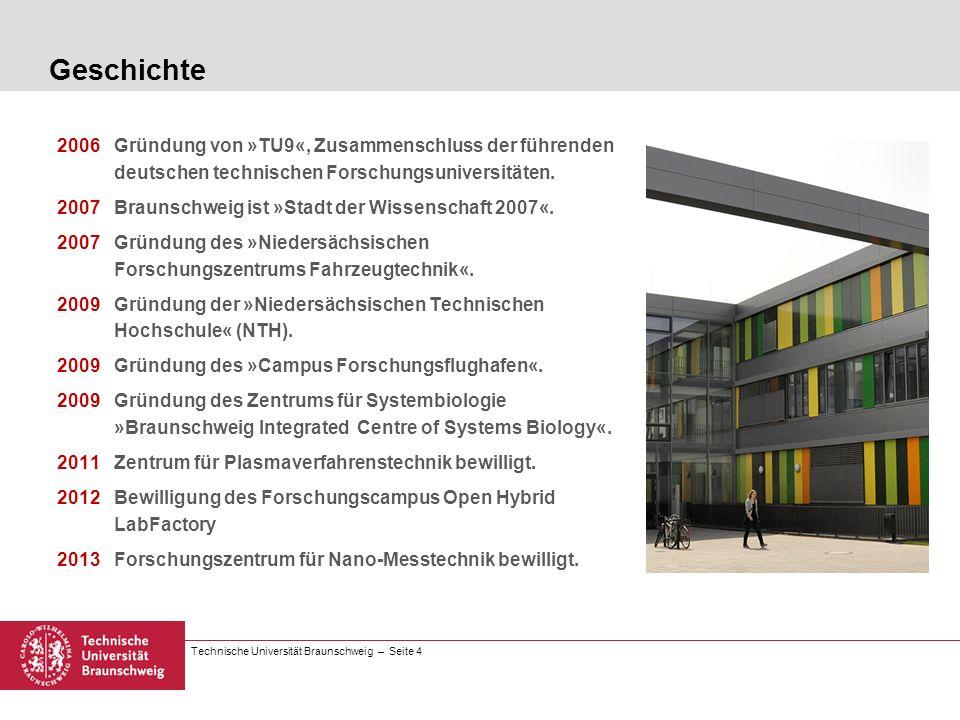 Geschichte 2006 Gründung von »TU9«, Zusammenschluss der führenden deutschen technischen Forschungsuniversitäten.