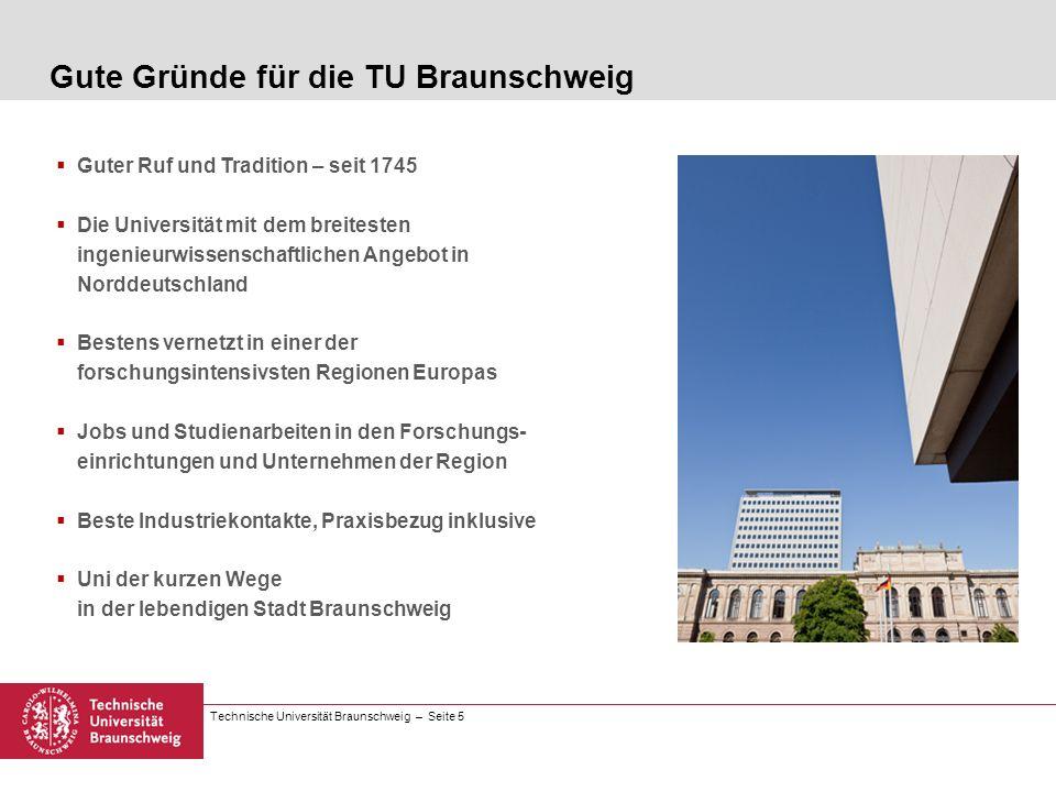 Gute Gründe für die TU Braunschweig