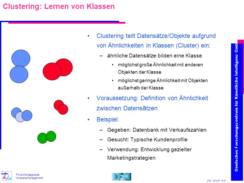 Clustering: Lernen von Klassen