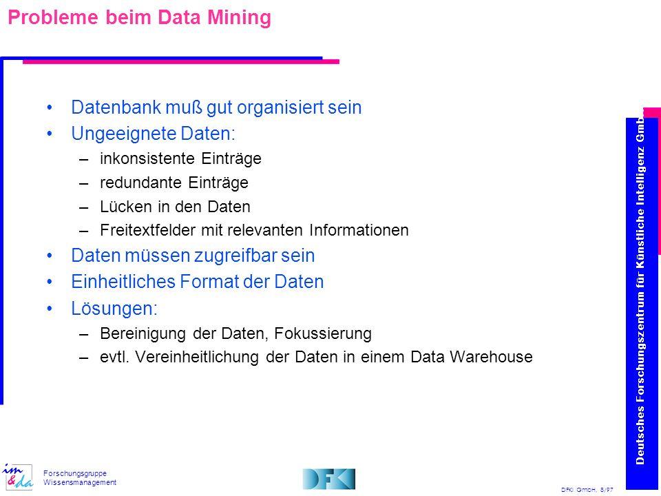 Probleme beim Data Mining